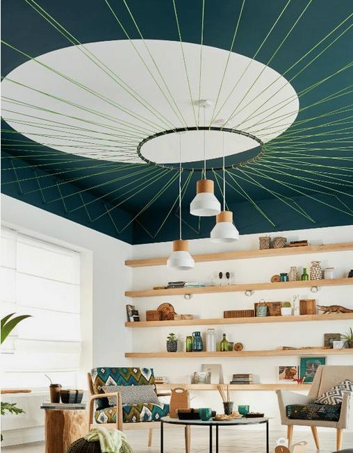 Quand les plafonds deviennent les nouveaux murs, plafond coloré, plafond décoration